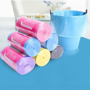 Sac de haute qualité coloré déchets sac à ordures 30pcs / rouleau sacs poubelle épais plastique jetables Corbeille Sacs de rangement Accessoires de cuisine DBC BH3461