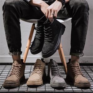 Autunno Martin stivali di moda primavera OUTDOOR Scarpe per il tempo libero degli uomini stivali da moto pattini esterni casuali teenager di autunno Stivaletti occidentale