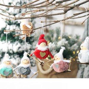 Ноэль Рождество Ангел девушка лыжи плюшевые куклы Рождественская елка орнамент кулон партии рождественские украшения для дома