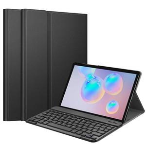samsung galaxy Tab S6 10.5 SM-T860 için Çıkarılabilir çıkarılabilir aydınlatmalı kablosuz bluetooth klavye portföy deri çanta