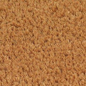 Doormat La fibra de coco 17 mm 80 x 100 cm Natural Otras Home Textile