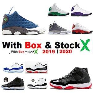 13s 13 Flint GIGI hombres zapatos de baloncesto Ambiente blanca bajo Gris Fantasma Chicago criado blanco azul Concord 11 Space Jam zapatillas de deporte con la caja