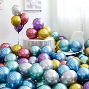 100 pcs 10 inch Metallic Latex wedding party balloons birthday party decorations Latex Helium Balloons New Kids Gift Supplies High Quality A