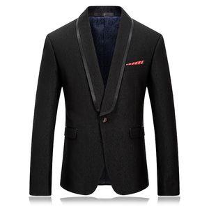 2018 New Casual Fashion Formal Men's Luxury One Button Slim Fit Men's Black-Solid Suit Separate Blazer Jacket wedding jackets
