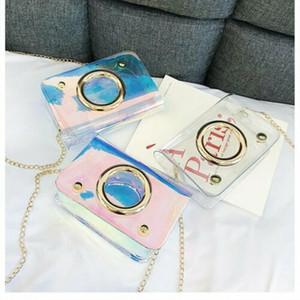 Yeni Çanta Çanta Şeffaf Bayanlar PU Kadınlar PVC Messenger Crossbody Güzel Deri Moda Omuz Plaj Akşam Çanta VWFT