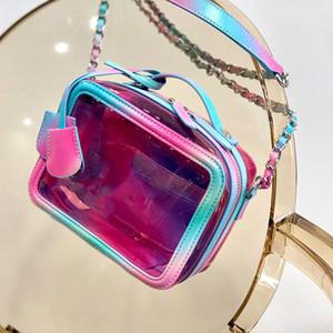 Shoulder coloridas Bolsas Bolsas Bandoleira Mulher Moda Bolsa Corpo Cruz Bolsa pvc saco Câmara Transparente Jelly Bag