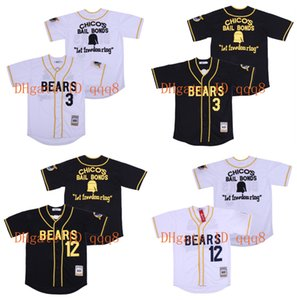 Top Quality ! Bad News Bears Tanner Boyle Jerseys #12 Kelly Leak #3 White Black 100% Stitched Baseball Jersey