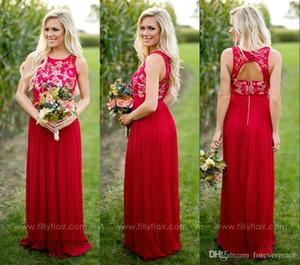 2019 Barato Verão Country Garden Estilo da Dama De Honra Vestido de Festa de Casamento Bodysuit Maid of Honor Vestido de Festa de Casamento Vermelho Quente Plus Size Custom Made