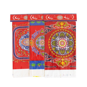 PE Plastic Table Cloth Muslim Eid Al Fitr Mezi Festival Ramadan Table Cover Dining Room Kitchen Waterproof Printing 2ybC1
