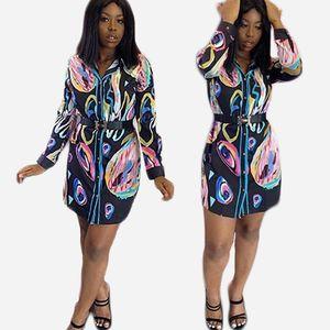 Yaz Bayan Gevşek Bluzlar Moda Renkli Baskı Kadın Tasarımcı Gömlek Seksi Yaka Boyun Giyim Yeni Varış