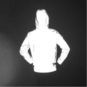 Novo 3 M completa jaqueta reflexiva homens / mulheres harajuku jaquetas blusões com capuz hip-hop streetwear noite brilhante casacos 3 M jaqueta