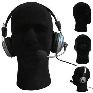 2020 neue schwarze Schaumkopf Modell Male Male Mannequin Styroporschaum Manikin Kopf Modell Perücke Glas Hut-Ausstellungsstand Mannequin