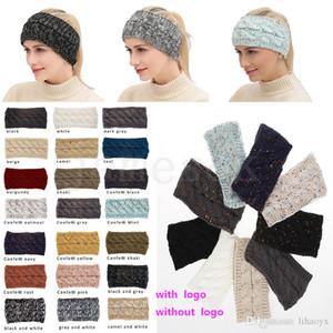 das mulheres Gorro Inverno Quente Gorros alta estiramento torcida Cable Knit Bun-cavalo chapéus boné Meninas Turban Hat Head Warmer 21 cores DC978