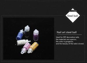 48 Bouteille en verre couleur Glitter Set Sequin Bijoux ongles perle Accessoires DIY Set parfum Nail Sticker Beauté