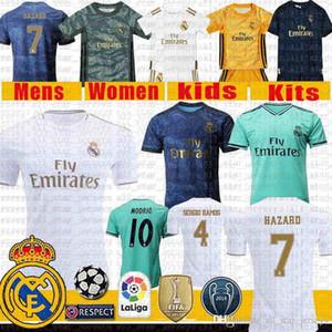 THAI Мужские Детские комплекты Real Madrid 2020 футбол Джерси SERGIO RAMOS 4 23 ОПАСНОСТИ 7 ОПАСНОСТИ Модрич 10 Бензема MARCELO Asensio ISCO футбол рубашка