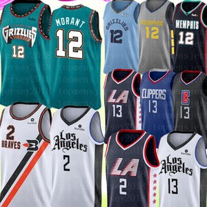 2020 New 12 Ja Morant Jersey Universidade Kawhi 2 NCAA Leonard Paul 13 George Jersey Basketball Jerseys Bordados