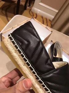 gucci shoes 2020 Latest nueva alpargatas de diseño mujeres de primavera y verano con plataforma de hardware del holgazán genuina niñas enfermos Suela de cuero con la caja EUR34-41