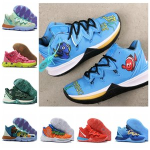 2020 yeni kyrie 5 sünger Plankton ananas 5s Sue Taze Takımyıldızları Eğitmenler Camp Sarı Basketbol Ayakkabı Irving Erkek Spor Sneaker tutun