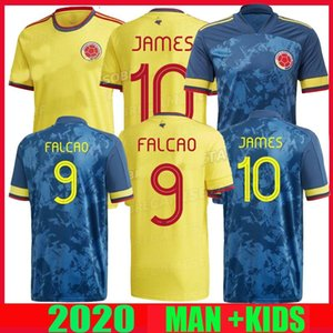 2020 Coppa America pullover di calcio casa lontano 2021 camisetas de fútbol SANCHEZ ZAPATA 23 9 LERMA CUADRADO JAMES 10 Nazionale di calcio SHIRT