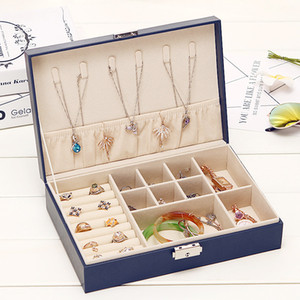 Single Layer Large Capacity Jewelry Receiving Box Necklace Earring Box