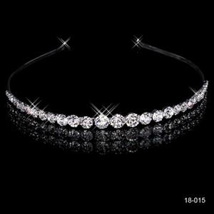 2020 pas cher Couronnes populaire Belle Accessoires cheveux cristaux peigne strass mariée mariage tiare 18015