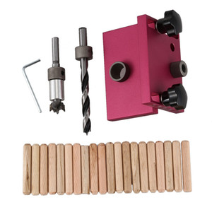 Herramienta de carpintería Localizador de perforación Tenon Agujeros Perforadores Posicionamiento Dowelling Jig S02 Drop Ship