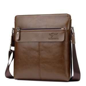 New Kangaroo Men's Crossbody Bag Male Business Handbag Totes Briefcase Men Leisure Shoulder Laptop Messenger Bags