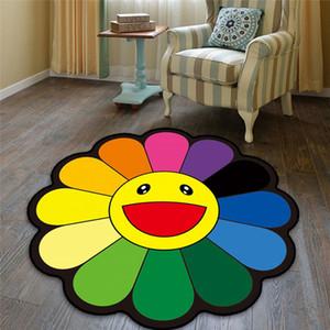 80 centímetros Sun Flores Skid Resistance Tapete Home For Quarto da cama Decoração R579