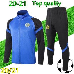 20 21 رجل INTER تدريب كرة القدم بدلة رياضية لكرة القدم سستة سترة 2020 2021 لكرة القدم رياضية survetement chandal