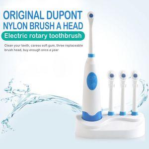 الدوارة فرشاة الأسنان الكهربائية للماء الكهربائية صوتي بلوتوث الذكية مع 3 رؤساء فرشاة العناية بالأسنان