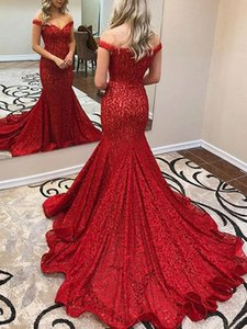 Sexy Off The Shoulder Prom Gown Deep Red Lace Mermaid Evening Dress robe de soiree Custom Made