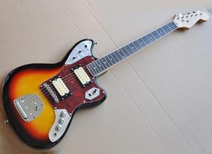 Beyaz wth Humbucker manyetikleri Pikaplar ile Fabrika Toptan Tütün Sunburst Elektro Gitar, Gülağacı Klavye, Reques olarak özelleştirilebilir Binding
