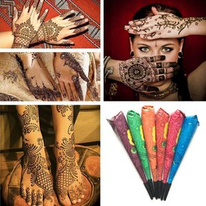 1PC Renk Kına Dövme Hint Suya Vücut Tattoo Geçici yararlı Beden Sanatı Kremi Dövme aracı TSLM1 Boya Yapıştır Yapıştır