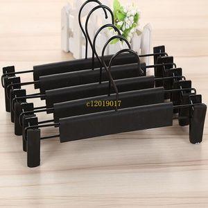 50pcs en plastique noir cintre pour lingerie Lingerie anti-dérapage vêtements pantalons jupe clip cintre rack