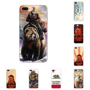caso telefone Para Xiaomi redmi Nota 2 3 4 3S 4A 4X 5 5A 6 6A Pro Plus macio TPU celular casos Urso Rússia móvel Fundas