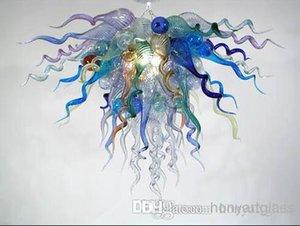 Free Shipping AC Led Bulbs 110v 240v Elegant Art Lighting Medium Size Hand Blown Glass Modern Contemporary Chandeliers