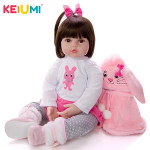 KEIUMI мягкие силиконовые реалистичные детские куклы мода Принцесса девушка кукла ребенок возрождается игрушки косплей Кролик малыш подарки на День Рождения Y200413