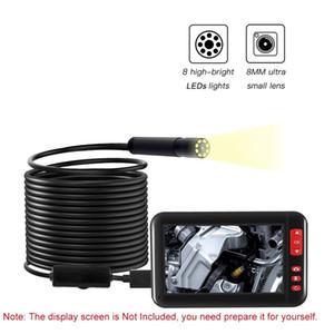 2/5/10 м 8 мм USB эндоскоп Borescope камера осмотра 8LEDs объектив IP67 водонепроницаемый эндоскопа Soft Wire Hard Wire