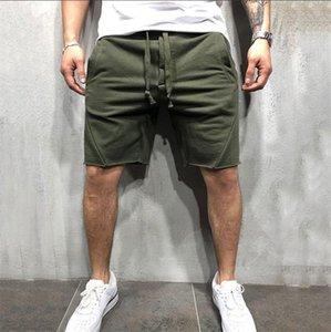 Şık spor şort erkekler yeni fitness pantolon erkek düz renk çalıştıran şort pantolon Boyut S-3XL eğitim gündelik spor
