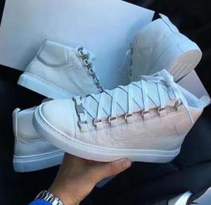 Original Hightop con lussuoso Arena Sneaker piatto Super qualità in vera pelle donna, uomo all'aperto Kanye West Fashion Trainer