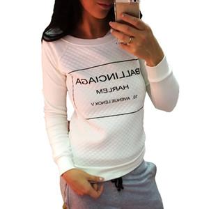 Venta caliente Nuevo otoño cachemira con mangas larga sudaderas Mujer Impresión Sweatershirts regalo Carta