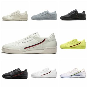 Adidas 2019 New Continental 80 og Cowhide Board Shoes Originals 대륙 80 초 Rascal Men 쿠션 캐주얼 운동화