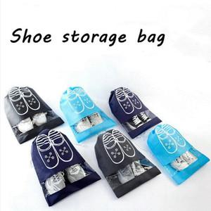 Chaussures Sac Pouch maison faisceau bouche Drawstring sac de rangement étanche anti-poussière Sacs de chaussures portables simples pour Voyage LXL1330-1