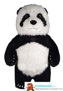 Terno inflável Panda Mascot Costume Adult inflável Costumes Panda Costume Adult Mascota disfarce Mascotte férias Mascotes Carnaval