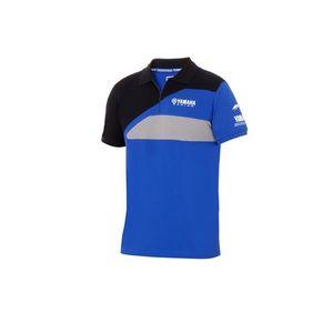 Paddock Blue For Yamaha Polo Motocross Motorcycle Riding Racing Camiseta hombre