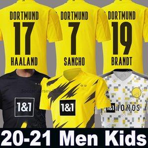 20 21 هالاند بوروسيا دورتموند SANCHO جيرسي لكرة القدم 2020 قميص 2021 لكرة القدم ال110 REUS هاملز BRANDT PACO DELANEY الرجال + الاطفال عدة مايوه