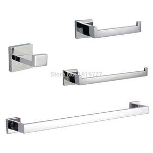 Bagnolux Edelstahl 304 Badezimmer Zubehör-Set Einzelhandtuchhalter Kleiderhaken Toilettenpapierhalter Handtuchring Oberfläche poliert
