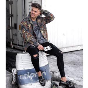 Bleistift-Hosen Herren Designer Jeans aus gewaschenem Holes Street Style Solid Color Jeans beiläufige Art und Weise der Männer Hosen