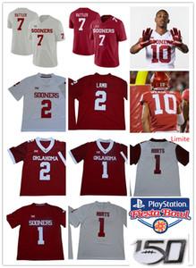Mens 1 # Jalen Hurts # 2 CeeDee Agnello Oklahoma Sooners del calcio Jersey # 10 Theo Wease Jr. # 7 Spencer Rattler Oklahoma Jersey
