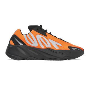En kaliteli 2020 Kanye West 700 MNVN Portakal Fosfor Koşu Ayakkabı 700 MNVN Kemik Üçlü Siyah 3M Yansıtıcı Erkekler Kadınlar Sneakers Ücretsiz Kargo